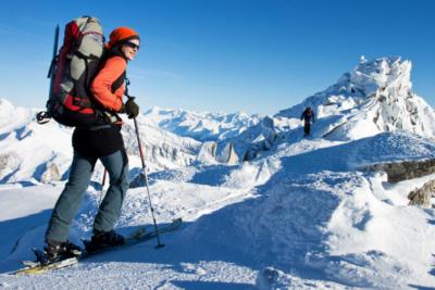 escursioni con gli sci sulle dolomiti