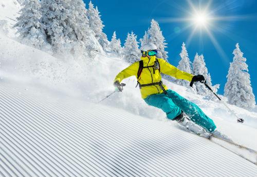 corso di sci sulle dolomiti