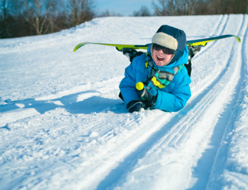 Ski lessons for children in Falcade