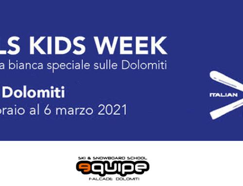 Rebel Kids Week, la settimana bianca speciale per i bambini sulle Dolomiti